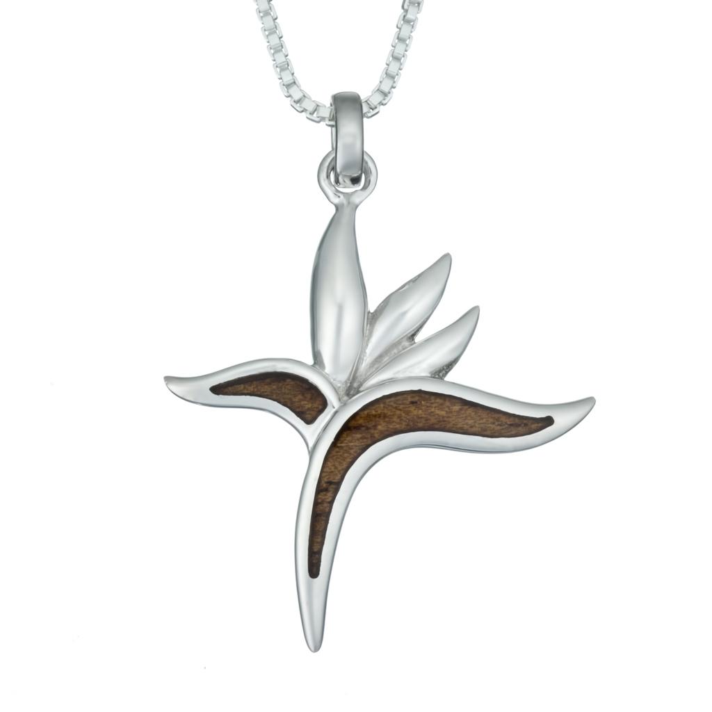 Bird of paradise jewelry birds of prey birds of paradise koa wood necklace aloadofball Images