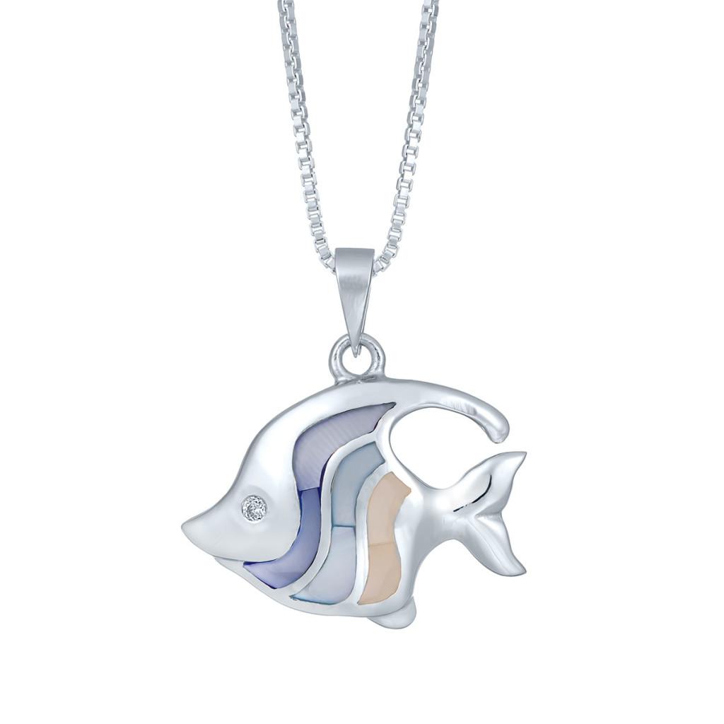 Capri Angel Fish Necklace SS-DI-177