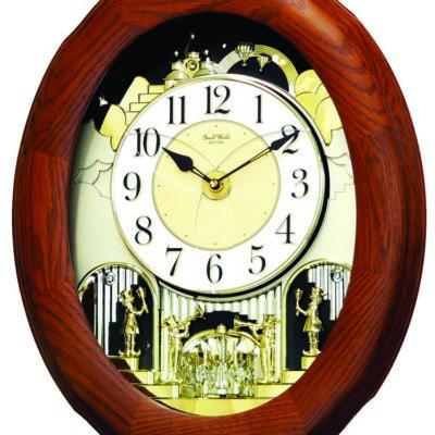 Joyful Nostalgia Oak Rhythm Clock