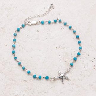 Calypso Starfish Anklet - Turquoise