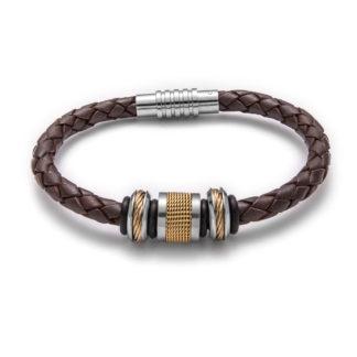 Two Tone Cable Mesh Bracelet